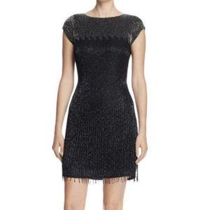 Aidan Mattox - Beaded Chiffon Short Dress